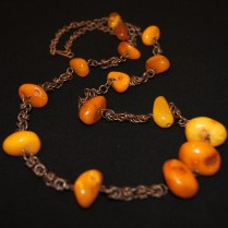 Amber necklace on chain