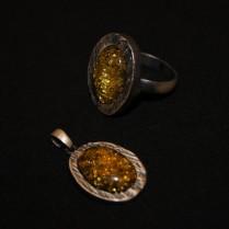 Amber pendant & finger ring