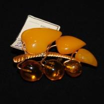 Vintage amber brooch